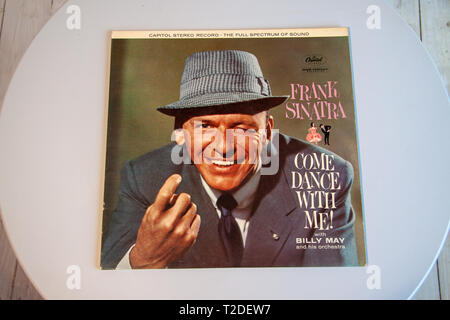 Cover for Frank Sinatra's most successful album Come Dance With Me - Stock Image