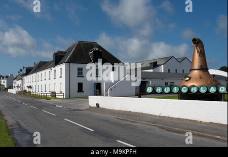 Bruichladdich Distillery with Road - Stock Image
