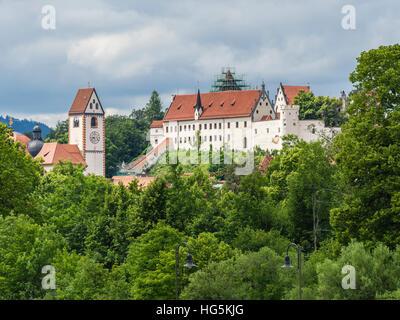 Castle Fuessen, Hohes Schloss, Füssen, Germany - Stock Image