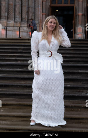 Ellie Goulding attends The global premiere of Netflix's OUR PLANET on Friday 5 April 2019 at The Natural History Museum, London. . Picture by Julie Edwards. - Stock Image