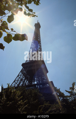 Eiffel Tower Paris France in Spring - Stock Image