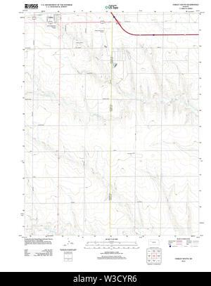 USGS TOPO Map Kansas KS Oakley South 20120911 TM Restoration - Stock Image