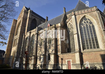 St. Saviours cathedral in Bruges, Belgium - Stock Image