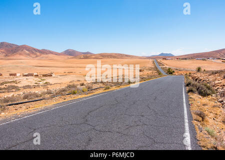 Scenic road at Fuerteventura on Canary Islands - Spain - Stock Image