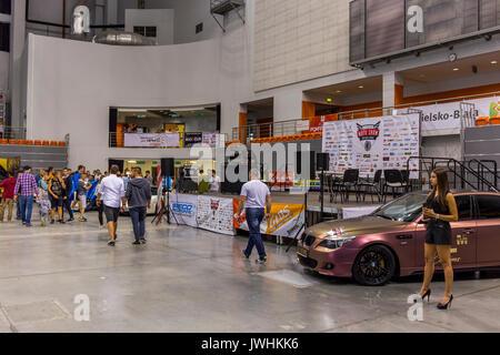 Bielsko-Biala, Poland. 12th Aug, 2017. International automotive trade fairs - MotoShow Bielsko-Biala. Stage. Credit: Lukasz Obermann/Alamy Live News - Stock Image