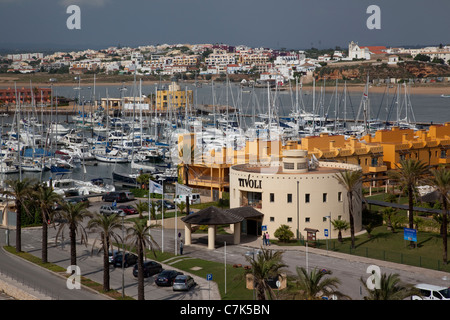 Portugal, Algarve, Portimao, View over Marina - Stock Image