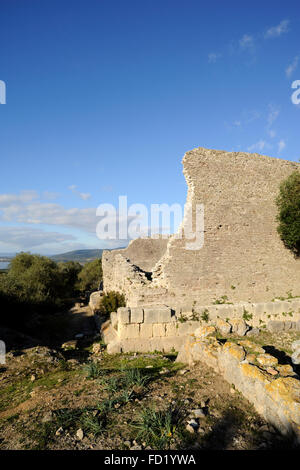 italy, tuscany, argentario, orbetello, ansedonia, ruins of the ancient city of cosa, acropolis, capitolium - Stock Image