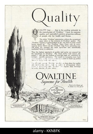 1939 UK Magazine Ovaltine Advert - Stock Image