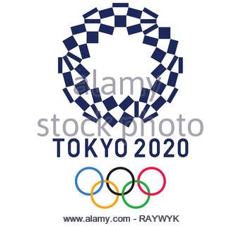 Tokyo 2020 Olympic Games logo - Stock Image