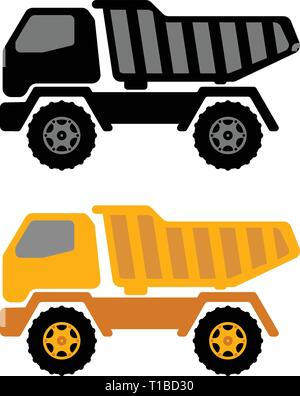 dumper truck illustration - vector - Stock Image
