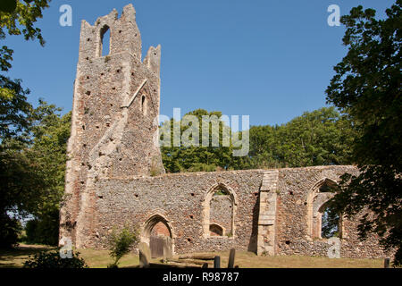 St Peter & Paul Church ruin, Tunstall, Great Yarmouth, Norfolk - Stock Image