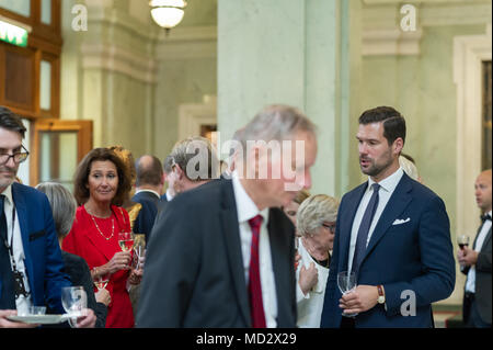 Stockholm, Sweden, 12th September, 2017. Opening of the Riksdag. Mingle and interviews after the session. - Stock Image
