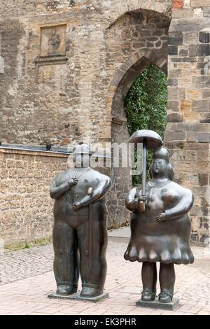 Street art in Goslar Harz Germany - Stock Image