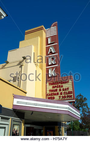 Frontage of Lark, a cinema in Larkspur, Marin County, California, USA. - Stock Image