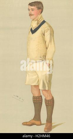VANITY FAIR CARTOON. Mr Charles Murray Pitman 'OUBC'. Rowing. By Spy. 1895 - Stock Image