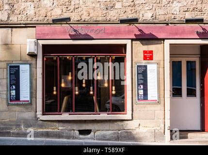 Frontage of Wedgwood fine dining restaurant, Royal Mile, Edinburgh, Scotland, UK - Stock Image