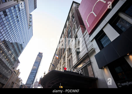 Macy's at Herald Square in Manhattan - Stock Image