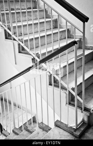 Part of a stair case in an apartment building - Stock Image