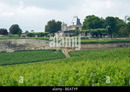 chateau ausone saint emilion bordeaux france - Stock Image