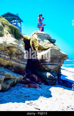 View of La Jolla Cove in La Jolla, California - Stock Image