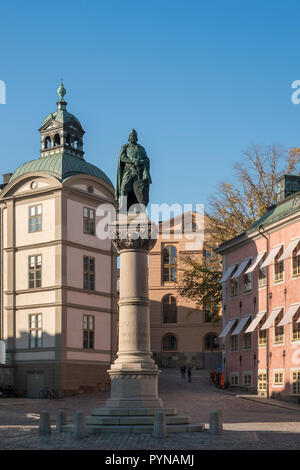Monument to Birger Jarls, attributed to be the founder of Stockholm, Riddarholmen, Stockholm, Sweden. - Stock Image