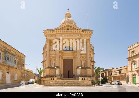 Rabat city in Gozo Island - Malta - Stock Image