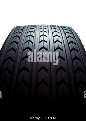 A close up shot of a wide tyre - Stock Image