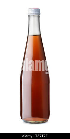 Front view of cola soft drink  bottle isolated on white - Stock Image