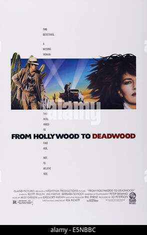 FROM HOLLYWOOD TO DEADWOOD, US poster art, from left: Jim Haynie, Scott Paulin, Barbara Schock, 1988. ©Island - Stock Image