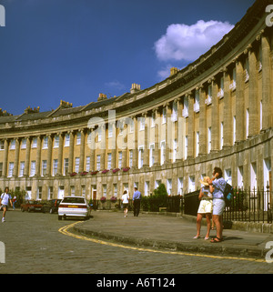 The Crescent in Bath Wiltshire - Stock Image