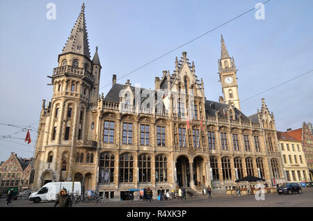 The Vrije Schippers Guildhall in the Belgian City of Ghent - Stock Image