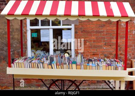 Second hand book stall,Wollaton Park ,Nottingham,England,UK - Stock Image