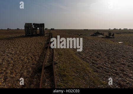 Fishing Shack at Dungeness, Romney Marsh, England, United Kingdom - Stock Image