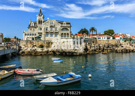 Cascais waterftont near Lisbon in Portugal - Stock Image