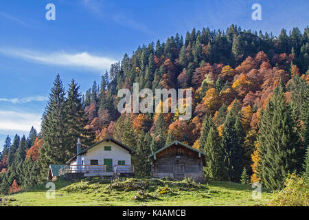 The Southern Ascent To The Benedict Wall Leads Past The Idyllic Krottenalm - Stock Image