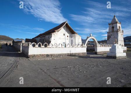 Church in the village of Isluga - Stock Image