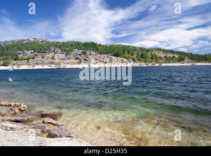 A beautiful lake against a dramatic sky. - Stock Image