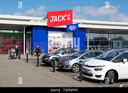 A branch of Jack's (part of Tesco) in Immingham, North Lincolnshire, England UK - Stock Image