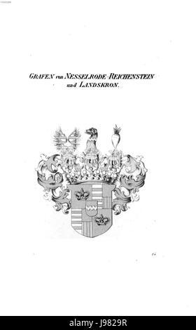 Nesselrode Reichenstein und Landskron   Tyroff HA - Stock Image
