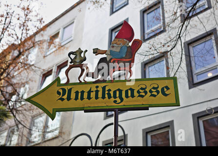 Sign on German Christmas Market - Stock Image