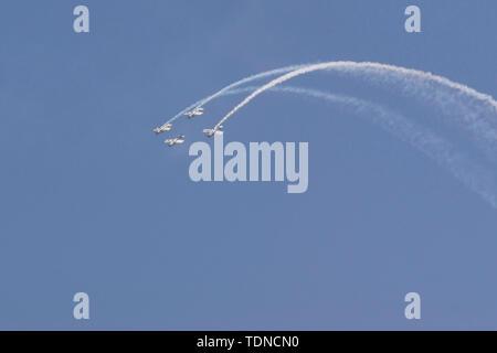 Team Raven descending  inverted formation - Stock Image