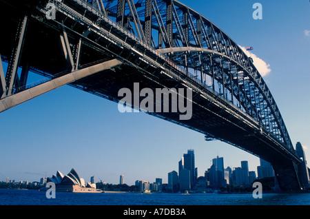Australia New South Wales Sydney Opera House Harbour Bridge - Stock Image
