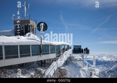 geography / travel, Germany, Bavaria, Upper Bavaria, Zugspitze (peak), summit station with observation deck, passage, - Stock Image