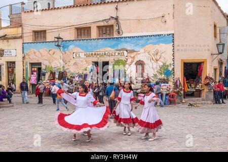 Argentina, Jujuy province, Quebrada de Humahuaca listed as World Heritage by UNESCO, village de Humahuaca - Stock Image