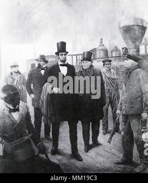 Abraham Lincoln in Baltimore en route to his Inauguration 18 - Stock Image
