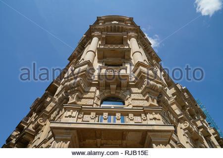 Deutschland, Hessen, Frankfurt am Main, Gallusanlage, Büro- und Geschäftshaus Fürstenhof, Fassade - Stock Image