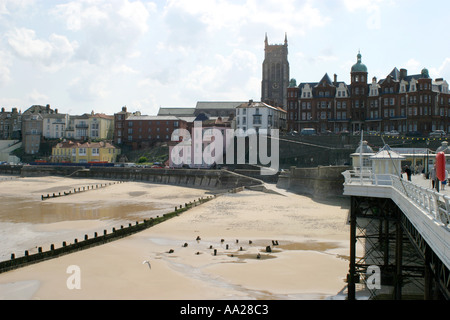 Cromer Pier and Beach North Norfolk England - Stock Image