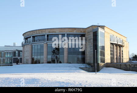 University of St Andrews with snow St Andrews Fife Scotland  February 2019 - Stock Image