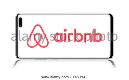 Airbnb logo - Stock Image