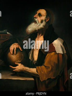 Archimedes by Luca Giordano 1632-1705 Italy Italian ( Archimedes of Syracuse 287 – 212 BC was a Greek mathematician, physicist, engineer, inventor, and astronomer.) - Stock Image